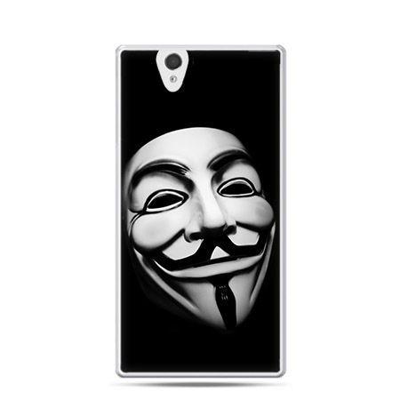 Maska anonimus etui z nadrukiem dla Xperia Z twarde, ochronne