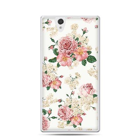 Polne kwiaty etui z nadrukiem dla  Xperia Z twarde, ochronne