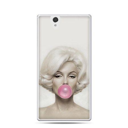 Monroe z gumą balonową etui z nadrukiem dla Xperia Z twarde, ochronne