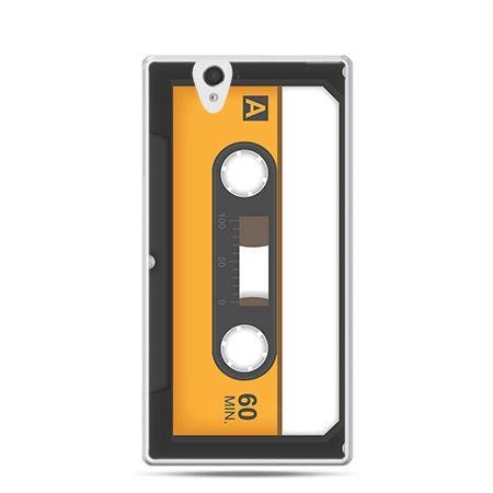 Kaseta magnetofonowa etui z nadrukiem dla  Xperia Z twarde, ochronne