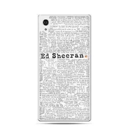 Ed Sheeran jasny etui z nadrukiem dla Xperia Z2 twarde plastikowe
