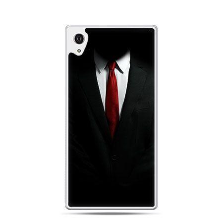 Czerwony krawat etui z nadrukiem dla  Xperia Z2 twarde plastikowe