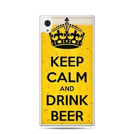 Keep Calm and Drink Beer etui z nadrukiem dla Xperia Z2 twarde plastikowe