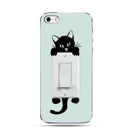 Etui na telefon włącznik kotek