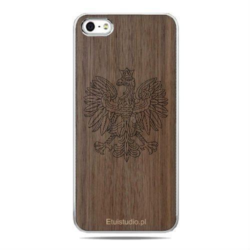 Etui drewniane telefony - Godło Polski Orzeł