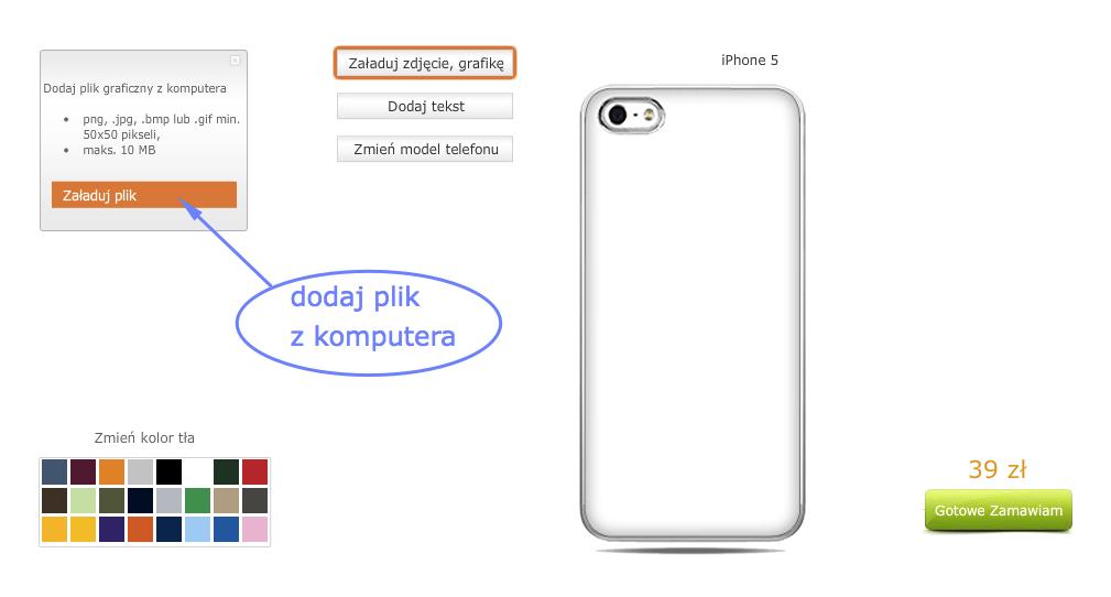 stworz wlasne etui iphone